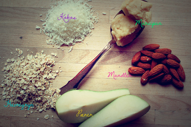 Ingredienser til pæretærte