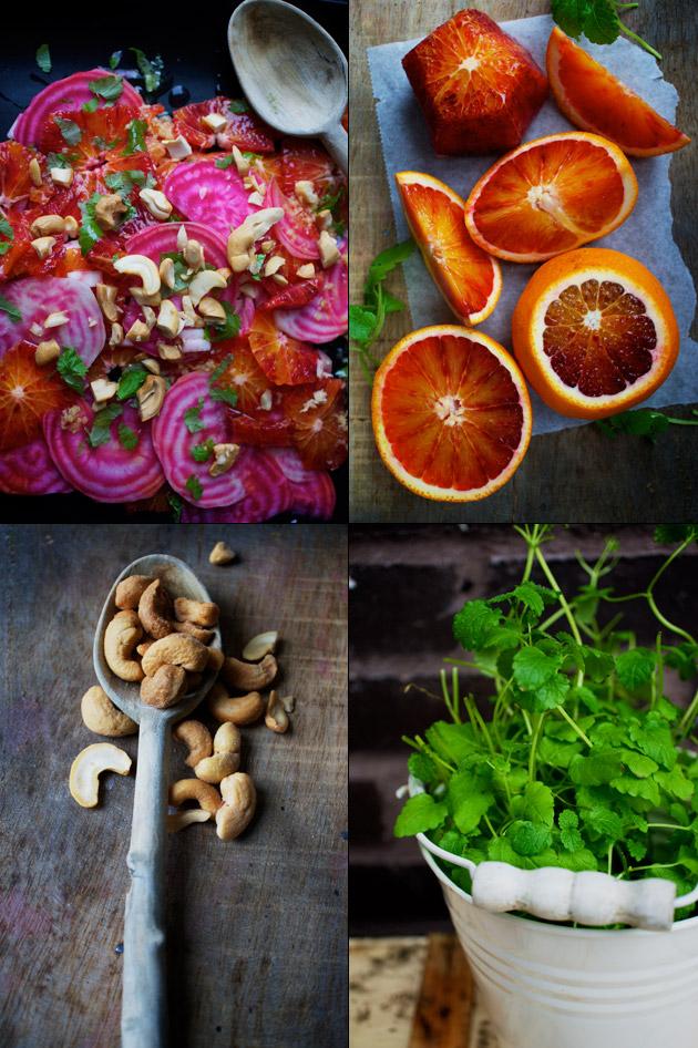 Rødbede og blodappelsinsalat