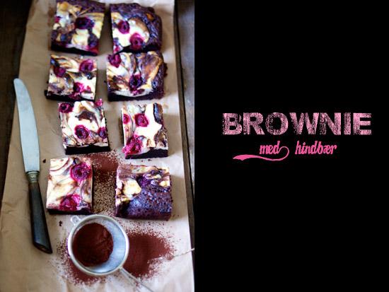 cheesecake brownie med hindbær