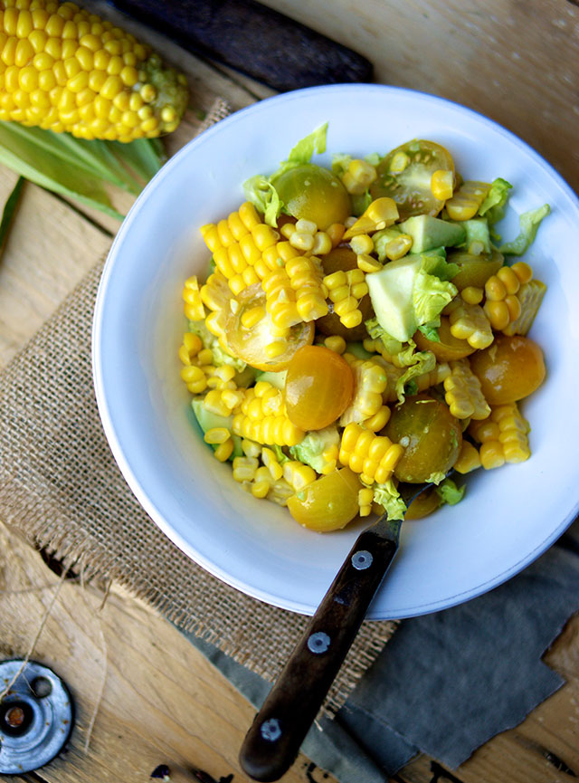 salat med majs