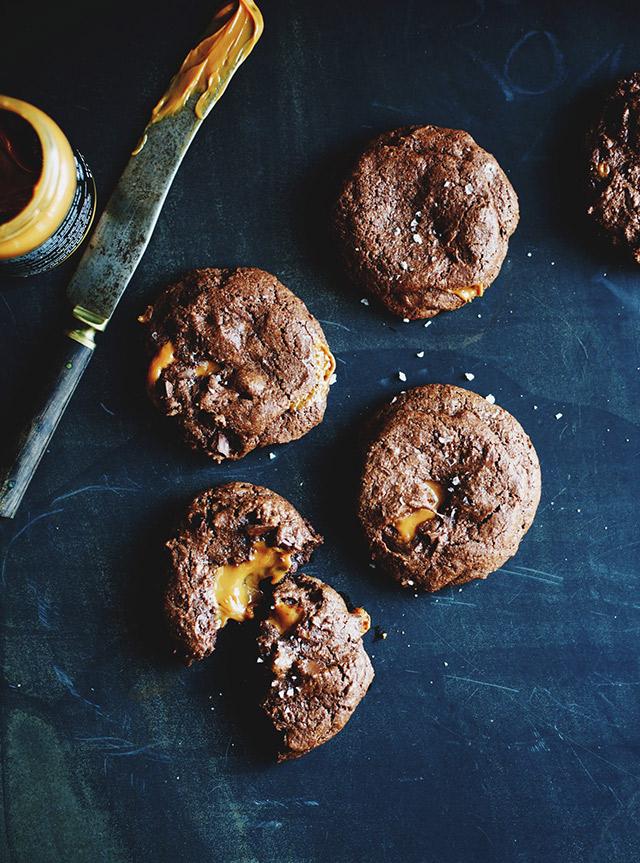caramel cookies med salt