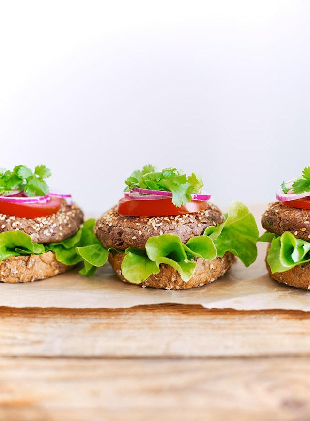 vegetarburgere med kikærter