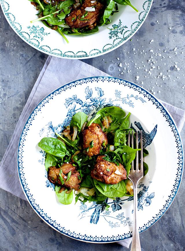 Salat med lever